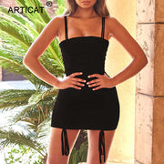 Spaghetti Sexy Backless Bandage Party Dress