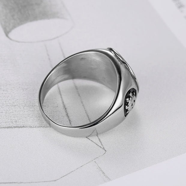 God's eye ring stainless steel eye ring