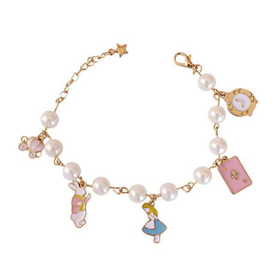 Alice sleepwalking Pearl Watch pumpkin cart poker Bracelet