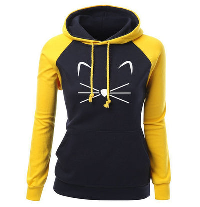 Cute Cat Woman Hoodies Sweater