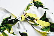 USA SIZE Sexy Sling Mango Print Women's Strap Bow Holiday Jumpsuit Shorts