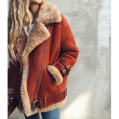 Jacket Women Coat Winter 2018 Hot Cotton Lambswool Outerwear Fashion Plus Size Overcoat For Female Thick Women Autumn Jacket