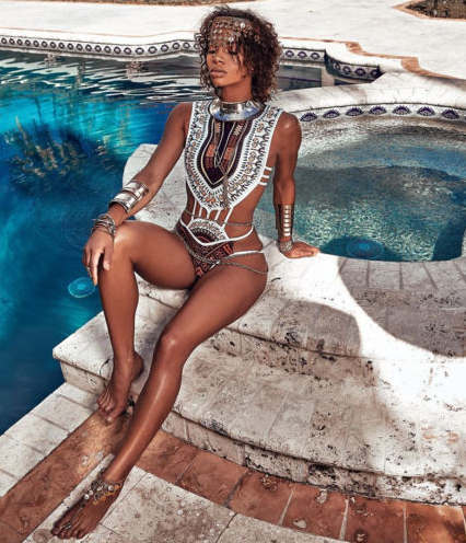 African Vintage Printed One-piece Swimwear