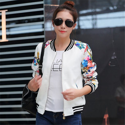 Joker short coat women's spring and autumn new small Korean version of the long-sleeved baseball uniform thin student jacket cardigan tide