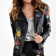 Black Floral Embroidered Jacket