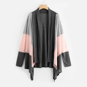 Contrast Color Striped Cardigan