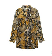 Retro fashion wild leopard shirt women long sleeve loose modern shirt autumn and winter new