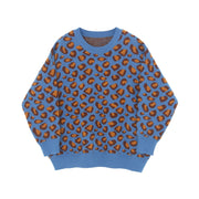 2018 Korea lazy wind long paragraph headband thin leopard sweater female loose knit top