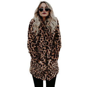 Artificial Faux Fur Women Winter Coat