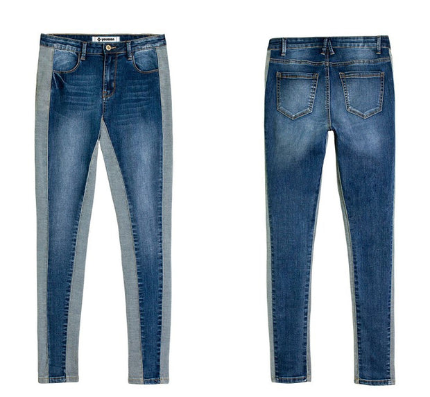 European and American jeans summer new elastic thin skinny pants deep stitching women's jeans
