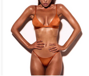 Women Pure-color Strappy Hot Swimsuit
