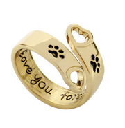Animal Style Hollow Paw Rings