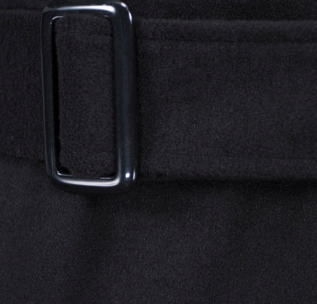 Woolen coat coat belt buckle windbreaker