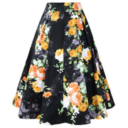 Hepburn Cotton Plaid Printed Retro Skirt