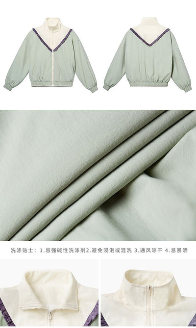 Zip short jacket thin loose female spring jacket