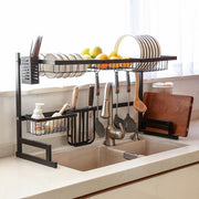 Stainless steel paint kitchen rack
