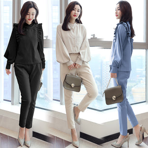 Spring 2019 New Fashion Elegant Temperament Slim Slim Leisure Baitao Simple Three-piece Set