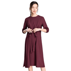 Casual Comfortable Pure Color Slim Dresses