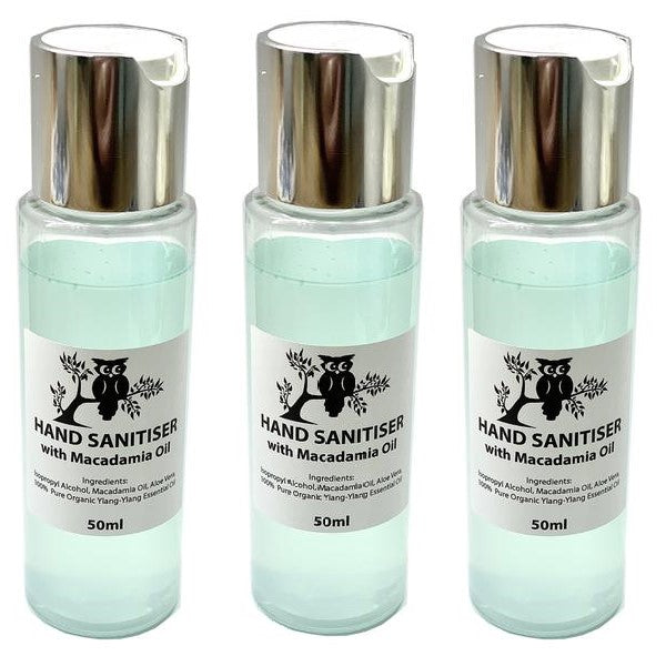 3-Pack Hand Sanitiser with Macadamia Oil - 50ml