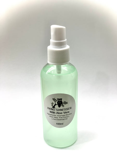 Hand Sanitiser with Aloe Vera - 100ml Spray