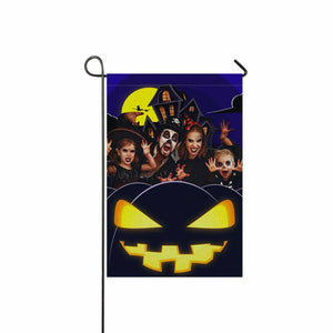 "Custom Face & Halloween Garden Flag 12"" x 18"""
