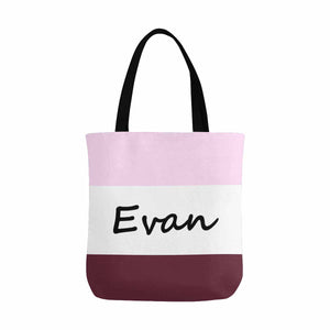 Custom Name & Three Color Canvas Tote Bag - myphotowears