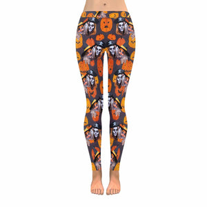 Custom Face & Halloween All-Over Low Rise Leggings