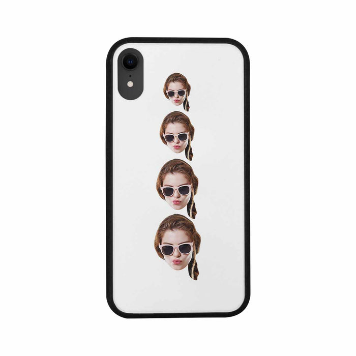 Custom Multiple Faces Iphone Phone Rubber Case (with Hard Plastic Back)