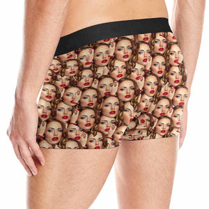 Custom Face Seamless Pattern Men's Boxer Briefs