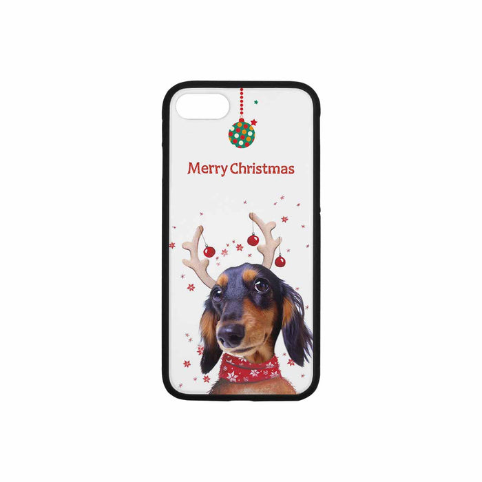 Custom Iphone Photo Phone Rubber Case (with Hard Plastic Back) - Christmas Reindeer