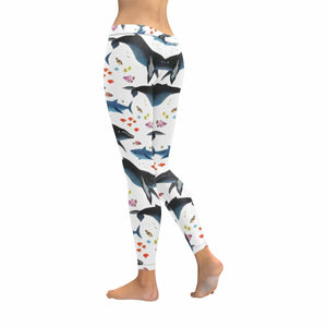 Shark Pattern Sports Yoga Bodybuilding Legging Pants - myphotowears