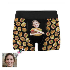 Custom Face Burger Men's All-Over Print Boxer Briefs