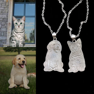 Custom Dog Photo Engraved Tag Necklace - myphotowears