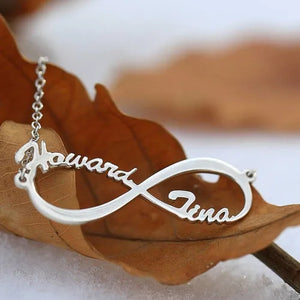Personalized Infinity Two Names Necklace Sterling Silver 925 - myphotowears