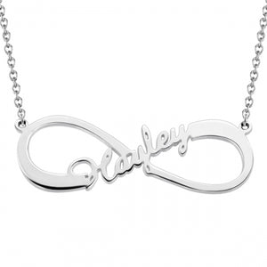 Personalized Infinity One Name Necklace Sterling Silver 925 - myphotowears