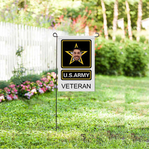 Custom Photo US ARMY VETERAN Garden Flag - myphotowears