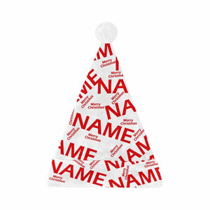 "Custom Name & ""Merry Christmas"" Print Christmas Hat - myphotowears"