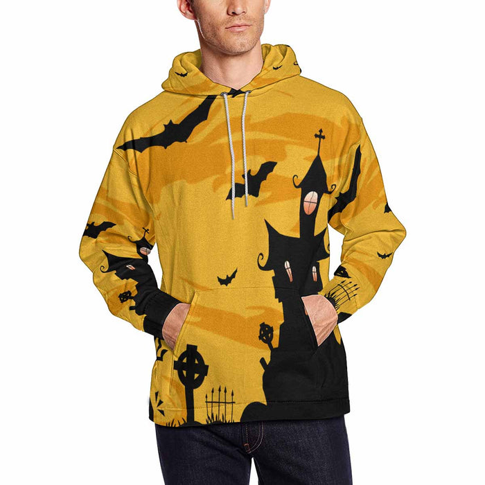 Personalize Halloween Men's All Over Print Hoodie Pullove
