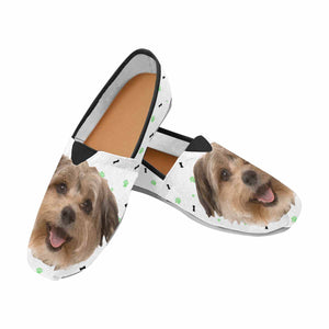 Custom Dog Photo Casual Canvas Women's Shoes - myphotowears