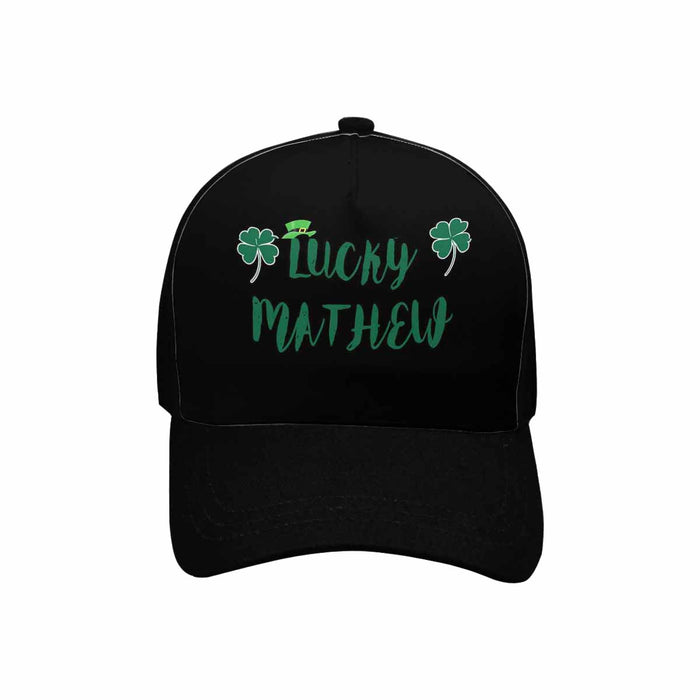 Custom Name St. Patrick Day Black Unisex Baseball Cap