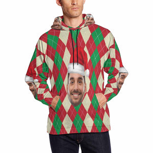 Custom Photo & Merry Christmas Men's Hoodie - myphotowears