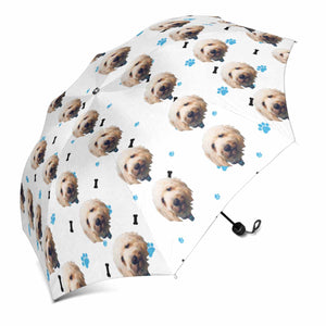 Custom Dog's Face Photo Sun & Rain Foldable Umbrella - myphotowears