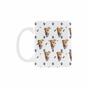 Custom Dog Photo  And Bone Patterns Mug - myphotowears