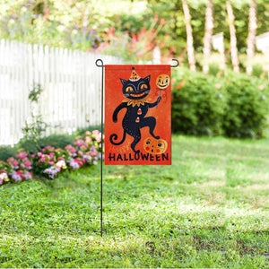 "Custom Cat Halloween Garden Flag 12"" x 18"""