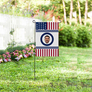 Custom Face Photo US Garden Flag - myphotowears