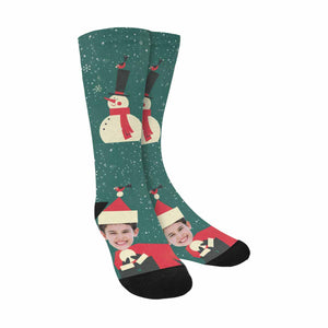 Custom Photo & Funny Christmas Socks - myphotowears