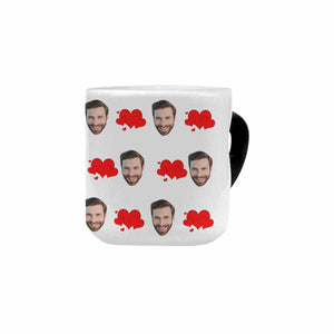 Custom Photo Heart-Shaped Morphing Coffee Mugs|Personlized Gift - myphotowears