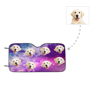 Custom Photo Dog Face Auto Sun Shade