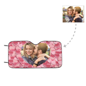 Custom Couple Photo Auto Sun Shade