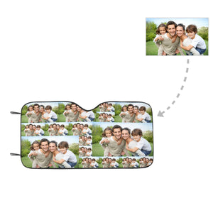 Custom Photo Patchwork Auto Sun Shade